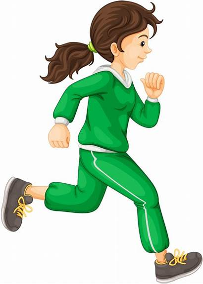 Running Cartoon Clipart Transparent Pinclipart Exercise