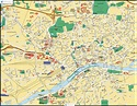 Map of Frankfurt am Main, Germany