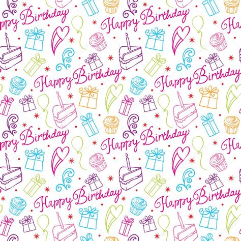 happy birthday pattern stock vector 169 omw 48660793