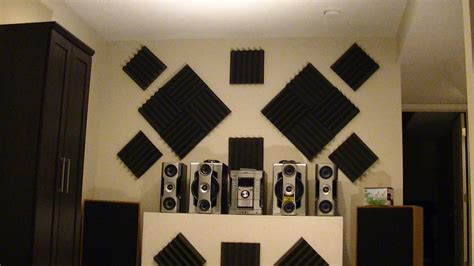 how to soundproof walls how to hang acoustic foam tiles on wall the easy way