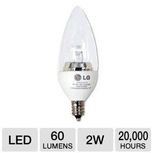 lg 2w candle led light bulb 2w 60 lumens 3000k 20000