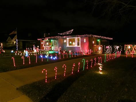 outdoor christmas driveway lights christmas decorations candy cane lights racine wisconsin