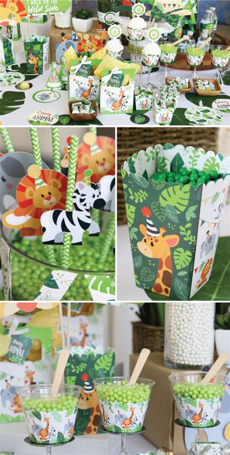 Get Wild with Jungle Party Animals Big Dot Of Happiness