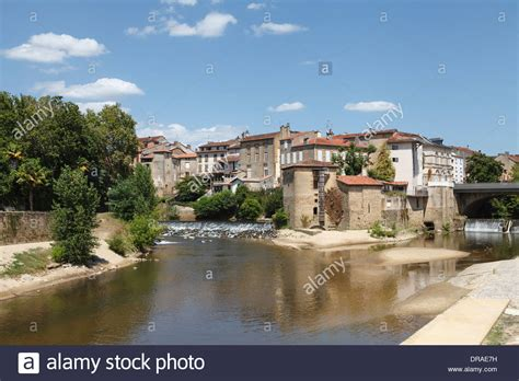 the confluence of the douze and midou rivers at mont de marsan stock photo royalty free image
