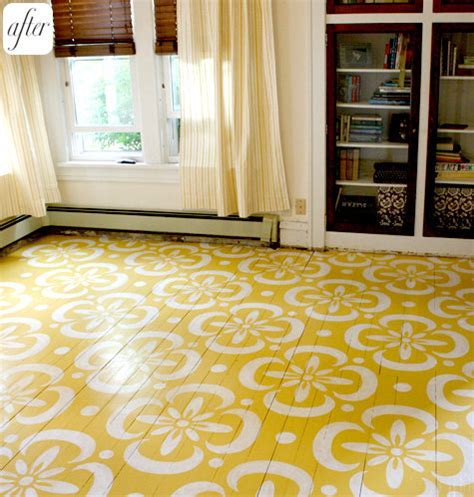 before & after: lori?s painted floor ? Design*Sponge