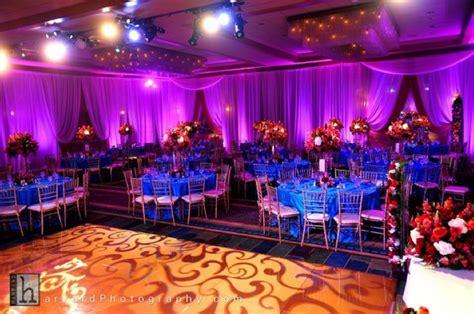 wedding decor pink purple orange blue lighting 2 the knotty planner