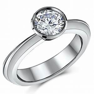 titanium 2ct flush set engagement ring titanium rings at With flush wedding rings