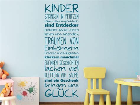 Wandtattoo Kinderzimmer Sprüche by Wandtattoo Kinder Bringen Uns Gl 252 Ck Wandtattoo