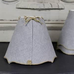 Abat Jour Nuage : abat jour pour lustre ou applique en lin teint gris ficelle lin ~ Teatrodelosmanantiales.com Idées de Décoration