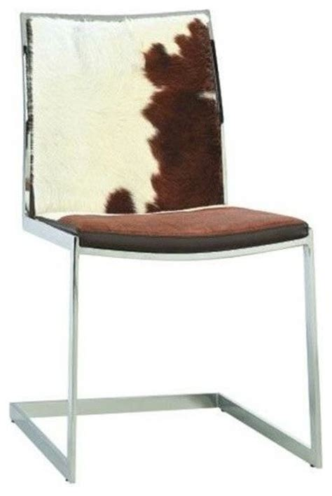 Modern Cowhide Chairs by Cowhide Lunar Chair White Brown Cowhide Modern Dining