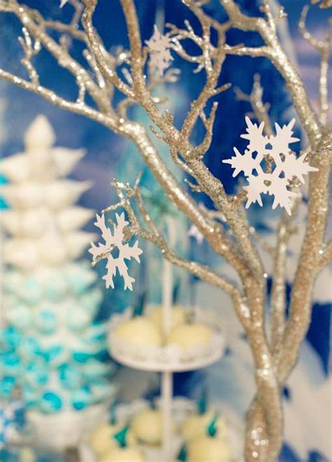 frozen party decorations   festive winter fete
