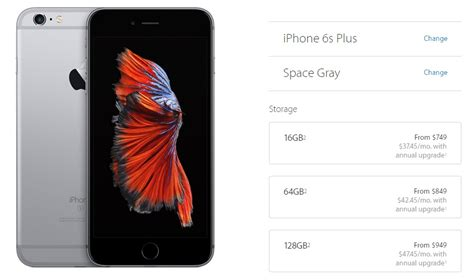 price of iphone 6s plus how much the iphone 6s iphone 6s plus will cost in
