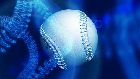 spinning blue baseball loop stock footage video