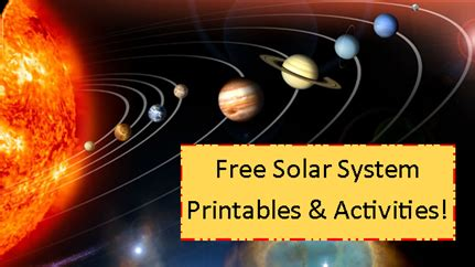 solar system worksheet printables  activities