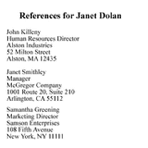 How To Put Together References For Resume by How To Do A Reference List For Employers