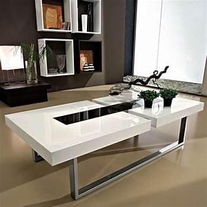 Table Basse Moderne : table basse moderne en bois et verre julie 4 pieds tables chaises et tabourets ~ Preciouscoupons.com Idées de Décoration