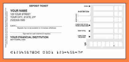 printable deposit slips salary slip