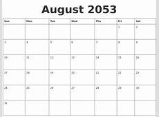 December 2053 Printable Monthly Calendar