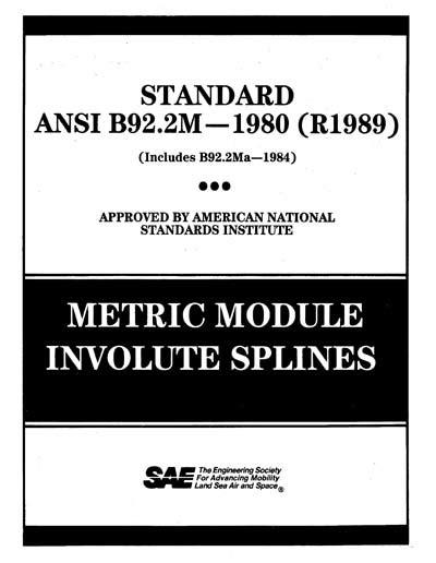 SAE ANSIB 92.2M-1989 (SAE ANSIB92.2M-1989) - Metric
