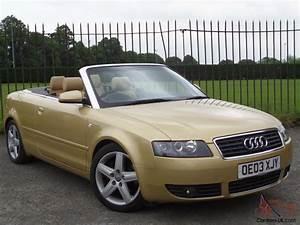 Audi A4 2003 : audi a4 cabriolet sport 2 4 2003 03 2door convertible service history elec roof ~ Medecine-chirurgie-esthetiques.com Avis de Voitures