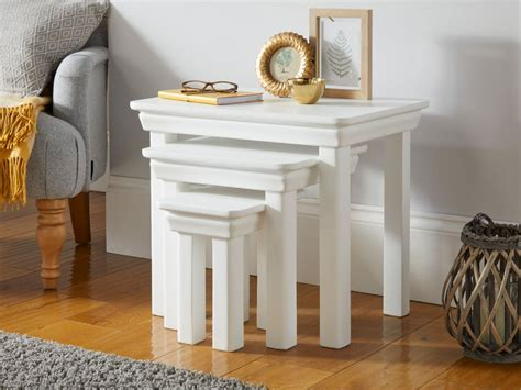 toulouse white painted nest   tables fully assembled
