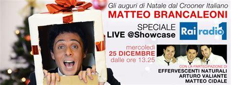 Il Natale Di Radio1 Rai Con Il Crooner Italiano