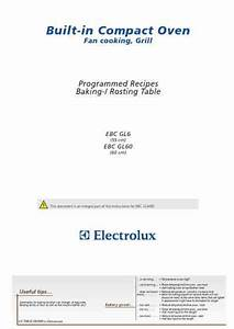 Electrolux Ebcgl6cn Oven Download Manual For Free Now