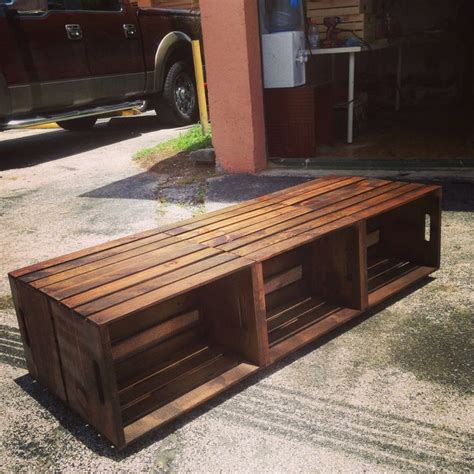 How to make a wooden coffee table on wheels. 6 Wine Crate Coffee Table - Rustic Coffee Table by ...