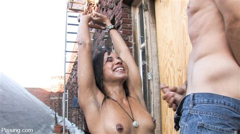 Alicia Tease Gets Golden Shower Pleasure For First Time