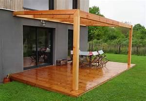 Construire Une Pergola En Bois : construire une pergola couverte ~ Premium-room.com Idées de Décoration