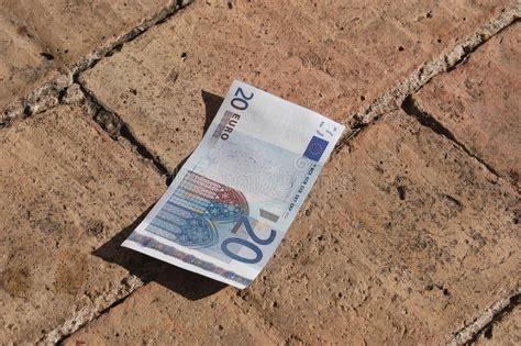 A Twenty Euros On The Floor Stock Image