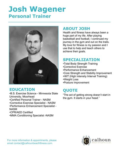 Trainer Profile Sle by Personal