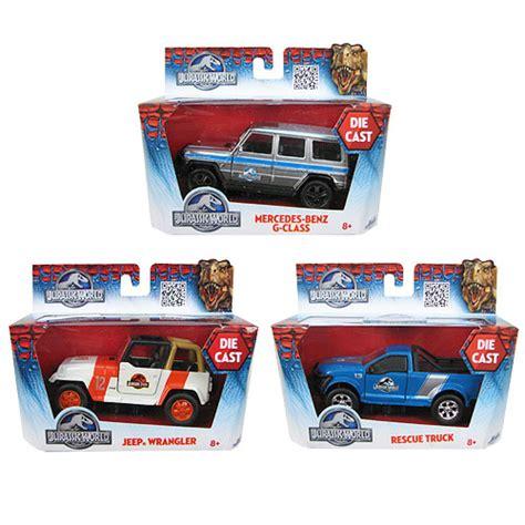 jurassic park car toy jurassic world 1 43 scale die cast vehicle case jada
