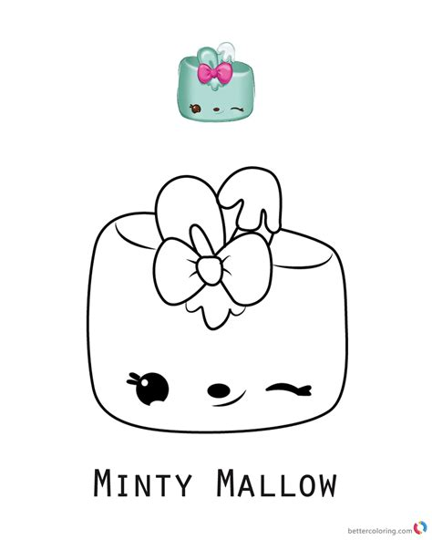 minty mallow num noms coloring pages series