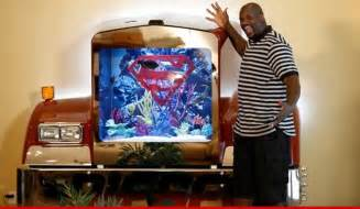 Shaq Superman Bed by Shaq S Awesome Big Rig Tank Reefs