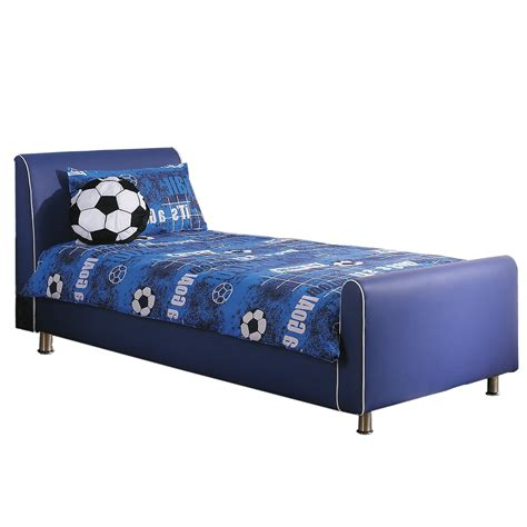 bed for azure boys leather bed frame blue day delivery