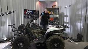 Swamped Atv Engine And Diff Oil Change  Kawasaki Brute