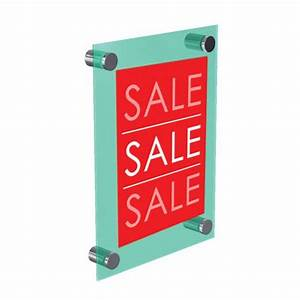 Wall mount sign holder