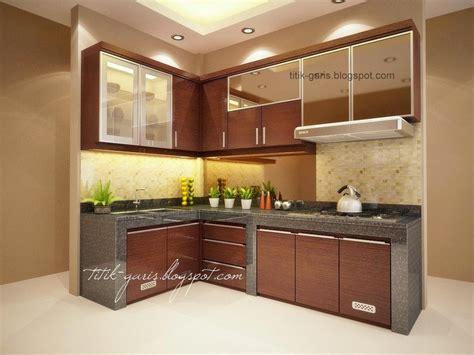 desain dapur mungil bentuk  rumah garis