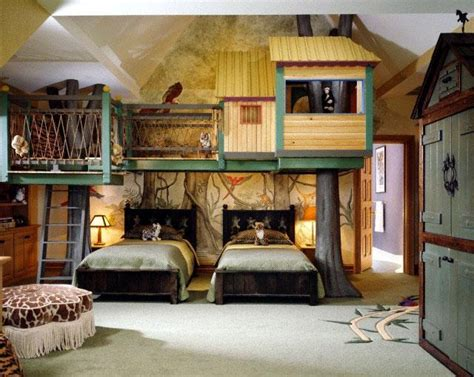 Children's Room With False Tree House Picture