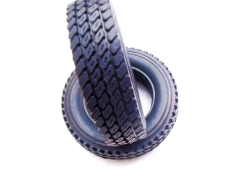1/14 Rc Car Truck Small Size 75mm Rubber Tyres Tire #4 For