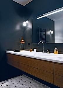 salle de bains design nos inspirations marie claire maison With salle de bain design avec boite ronde à décorer