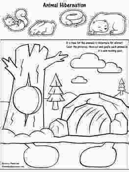 printable coloring pages hibernating animals