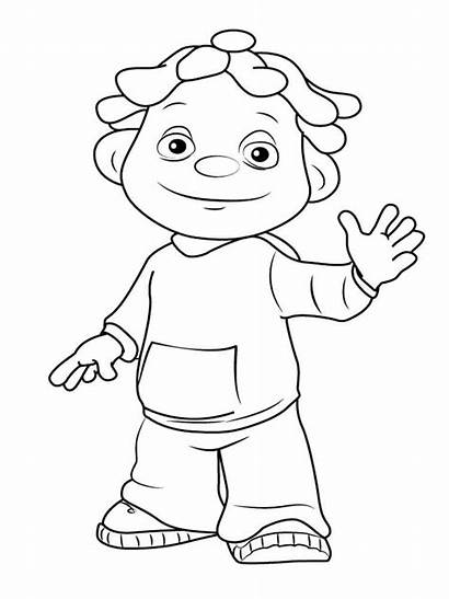 Coloring Kid Sid Science Pages Printable Draw