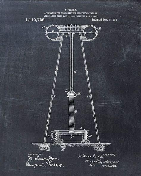 patent print tesla coil tesla wall art tesla print