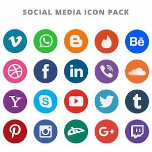 20 Free Flat Social Media Vector Icons Logo Vector (EPS ...