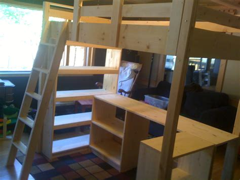 ana white claires loft bed diy projects