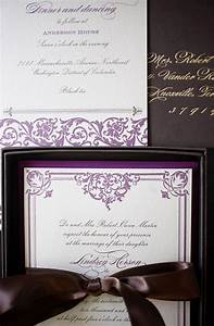 lindsey evan39s gilded formal wedding invitations With pretty formal wedding invitations