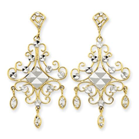 cheap chandelier earrings jewelry 14k gold rhodium filigree chandelier earrings