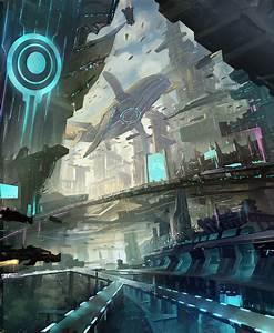 Awesome design future architecture concept art epic sci-fi ...